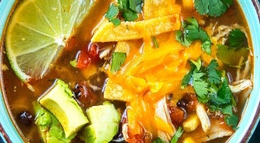 Slow Cooker Chipolte Chicken Tortilla Soup